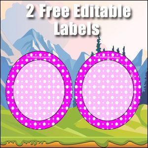 Free Classroom Sign - 2 Circles Purple