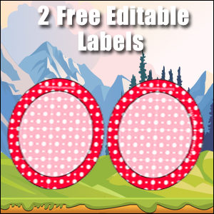 Free Classroom Sign - 2 Circles Red