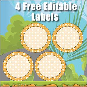 Free Classroom Sign - 4 Circles Orange