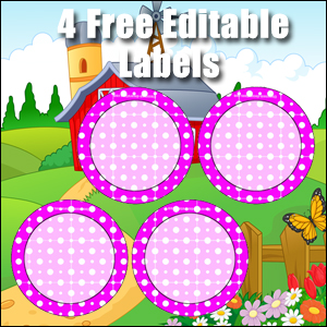 Free Classroom Sign - 4 Circles Purple