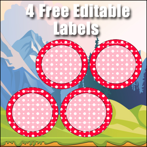 Free Classroom Sign - 4 Circles Red
