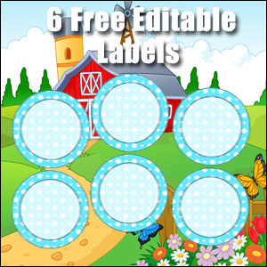 Free Classroom Sign - 6 Circles Blue