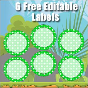 Free Classroom Sign - 6 Circles Green