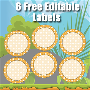 Free Classroom Sign - 6 Circles Orange