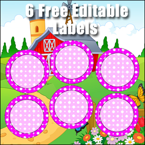 Free Classroom Sign - 6 Circles Purple