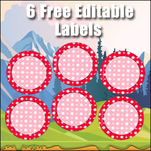 Free Classroom Sign - 6 Circles Red