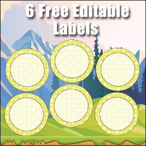 Free Classroom Sign - 6 Circles Yellow